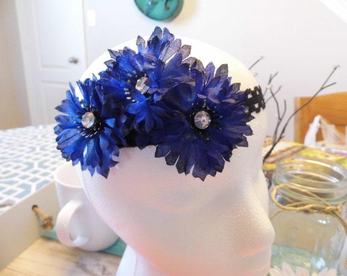 Blue Daisy Headband
