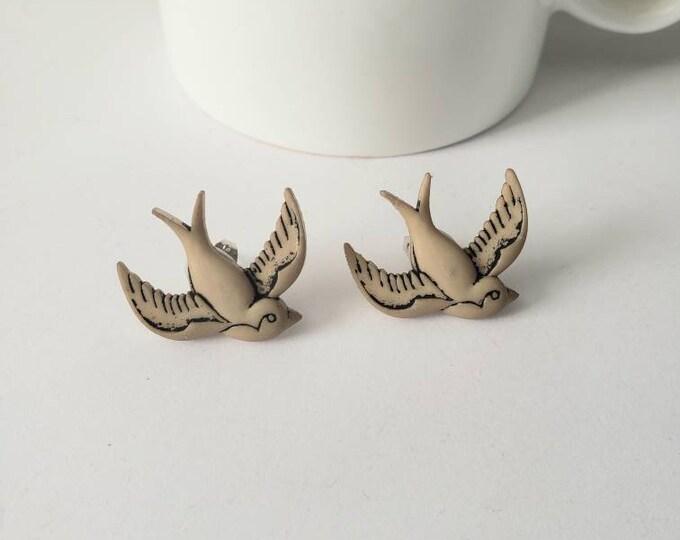 Steampunk Style Stud Earrings
