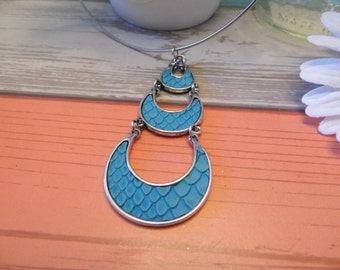 Teal Tribal Choker Necklace