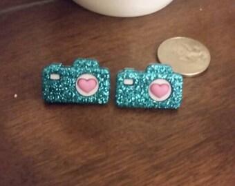 Sparkle Camera Stud Earrings