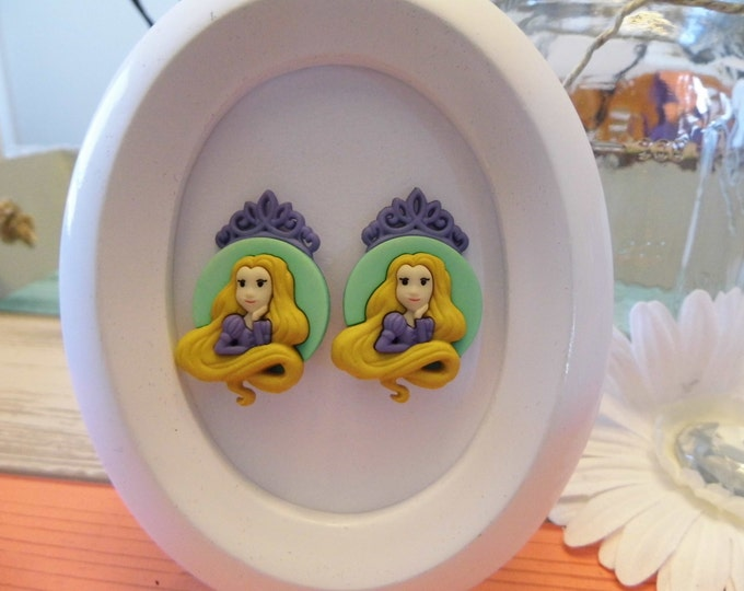 Disney Princess Cameo Button Stud Earrings