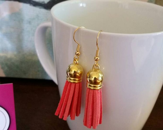 Colorful Leather Tassel Earrings