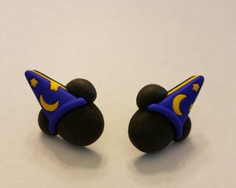 Halloween Mickey & Minnie Mouse Ears Button Stud Earrings