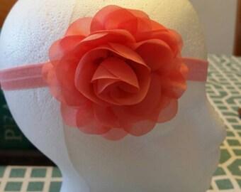 Chiffon & Lace Flower Headband