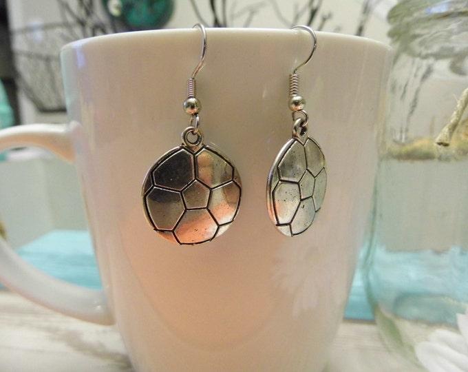 Silver Sports Earrings