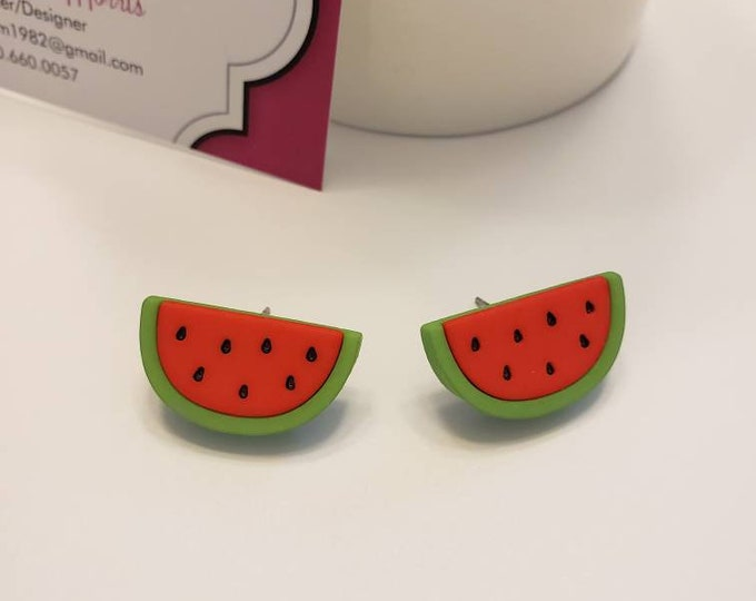 Bright Summer Fruits Stud Earrings