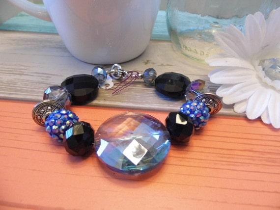 Bead & Crystal Chunky Bracelet