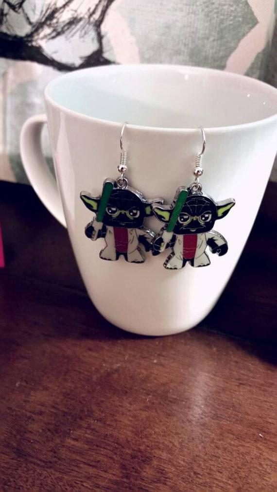 Star Wars Yoda Charm Earrings