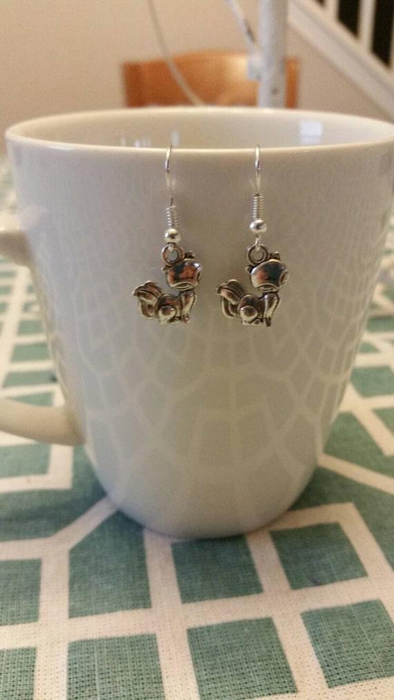 Sly Fox Silver Charm Dangle Earrings