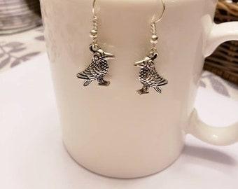 Raven Silver Dangle Earrings