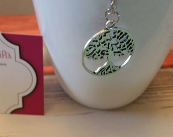 Tree Silhouette Charm Necklace