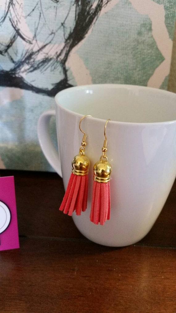 Colorful Leather Tassel Earrings