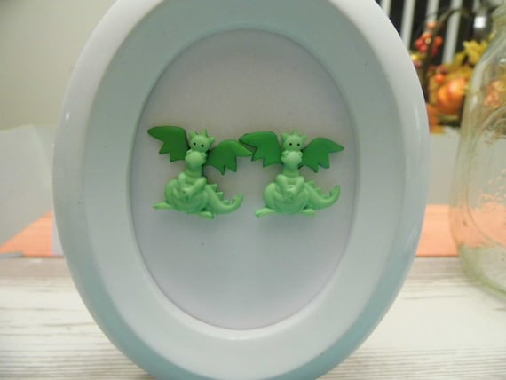 Fairytale Characters Button Stud Earings