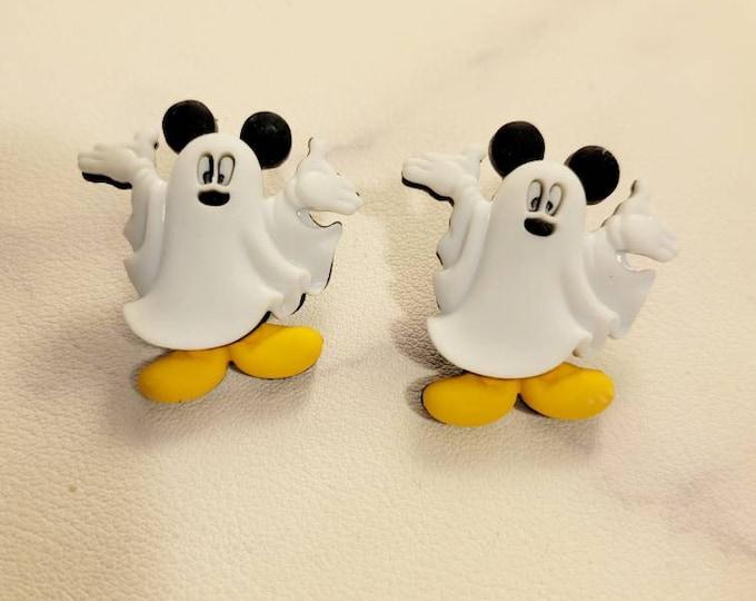 Disney Ghost Mickey and Minnie Stud Earrings