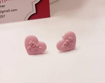 Conversation Hearts Valentine's Stud Earrings