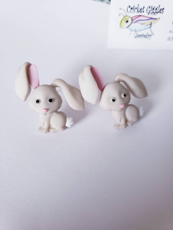 Cute Easter Critters Button Stud Earrings