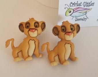 Lion King: Simba & Friends Large Stud Earrings