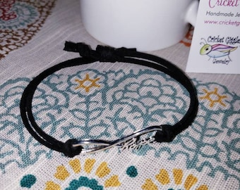 Boho Chic Faux Leather Charm Bracelet
