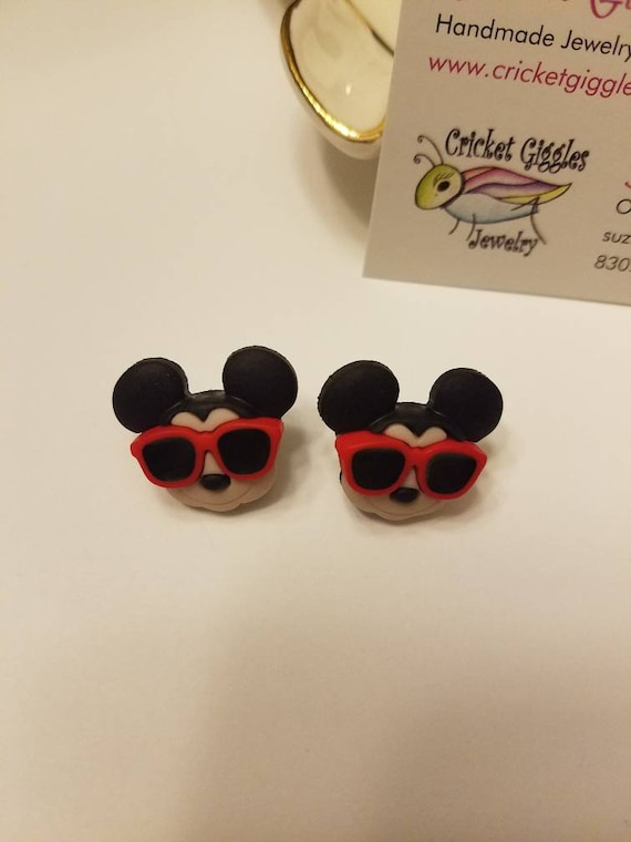 Disney Vacation Mickey and Minnie Stud Earrings
