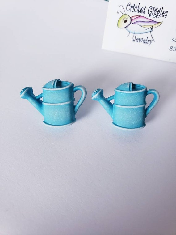 Garden Watering Can Stud Earrings