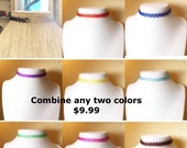 Etsy Tattoo Chokers Two C...
