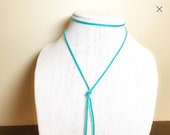 Lariat Necklace, Turquois...