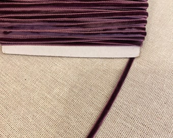"Eggplant Purple Velvet Ribbon By The Yard, 1/8"" 3mm Most Popular Item, Best Selling Item, Trending Now, For Weddings, Chokers, Etsy"
