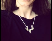 Moose Necklace in Sterling Silver 100% handmade