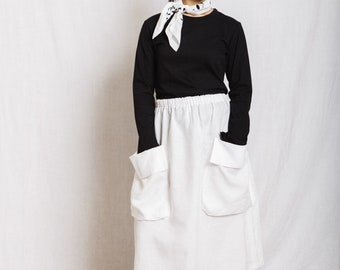 French Linen skirt