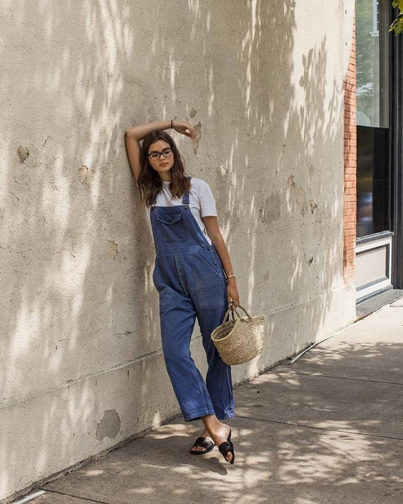 French vintage work wear overalls vintage