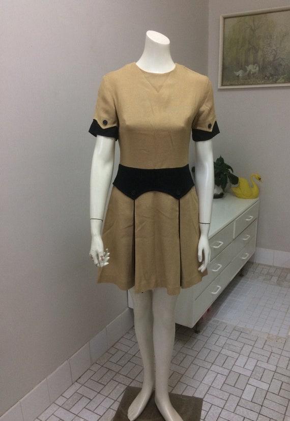 Original Vintage 60s Dress , Atomic Scooter Mod Go