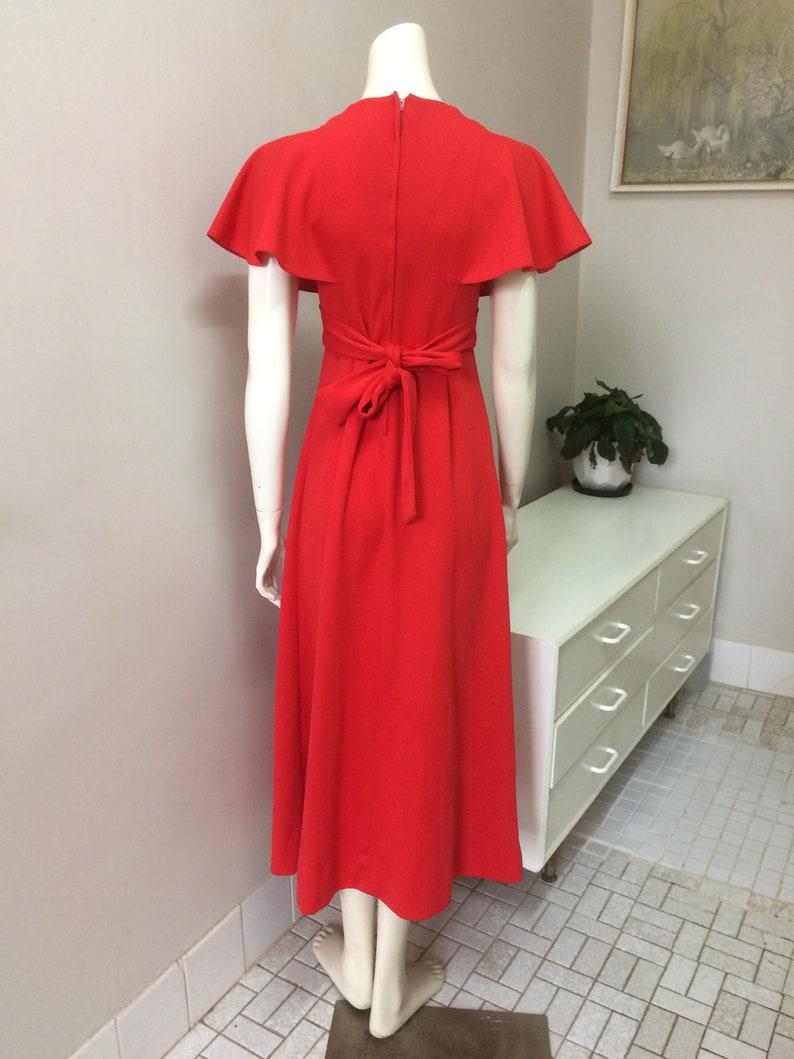 Red Maxi Dress Original Vintage 70s Dress Party Boho Retro Dress