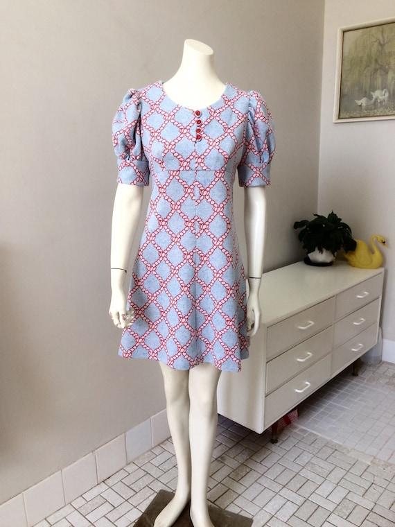 Original Vintage 60s Dress , Scooter Mod GoGo Dres
