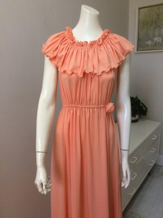 Original Vintage 60s 70s Day Dress , Maxi Dress ,M