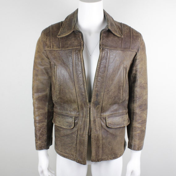1940's Horsehide Leather Jacket by Windward Men's