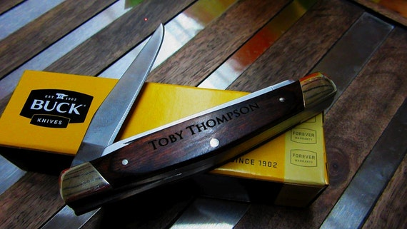 buck knife markings