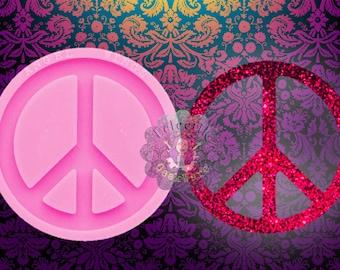 PEACE SYMBOL PENDANT SILICONE MOULD-EPOXY RESIN SHINY MOLD//SIGN//KEYCHAIN//HANGING