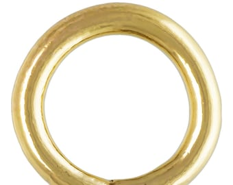 Crimp Endcap (1.4mm ID) w/Ring GP, 14k gold filled. Made in USA. #400078
