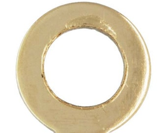 Crimp Endcap w/Ring (0.48mm ID), 14k gold filled. Made in USA. #400080
