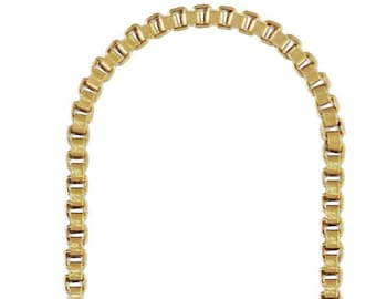 Threader Box Chain w/Ring GP, 14k gold filled. Made in USA. #4006436XB2
