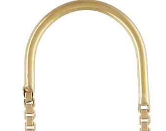 U-Threader Box Chain Drop w/Ring GP, 14k gold filled. Made in USA. #4006430XB2