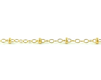 Small elongated 14KGF Cable Chain SKU:S1606F
