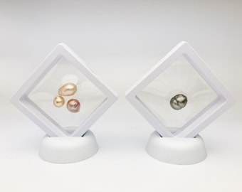 Gemstone Display Box Storage Tool Coin Jar 3x3cm,White -Pack of 20 Pcs