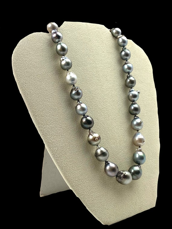 Stunning Tahitian pearl necklace with 14KGF clasp , SKU# 11161
