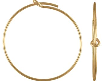 70x45.0mm Wire Beading Hoop,  14k gold filled. Made in USA. #4011810