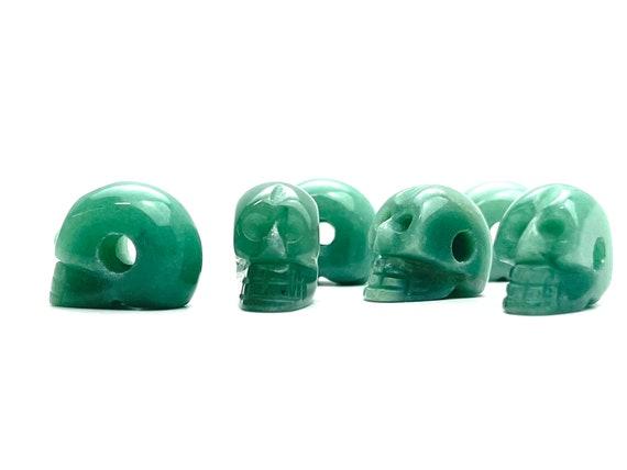 Skull Carved Stone Beads, Sku#M1216-1
