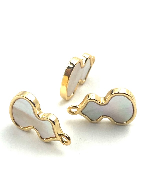 14KGF abalone mother of pearl charm, SKU# M1065