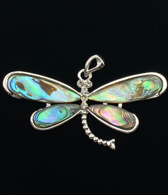 Dragonfly abalone mother of pearl pendant, SKU#M782