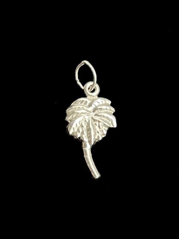 Sterling Silver Palm Tree Charm, Sku#1173 C