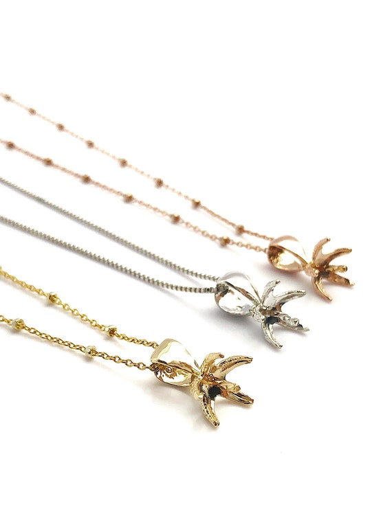 Étoile de mer perles pendentif cadre Or - 14K or jaune, Or cadre Rose, or blanc - cadre seulement. Aucune perle inclus. TP-88 50dfa1